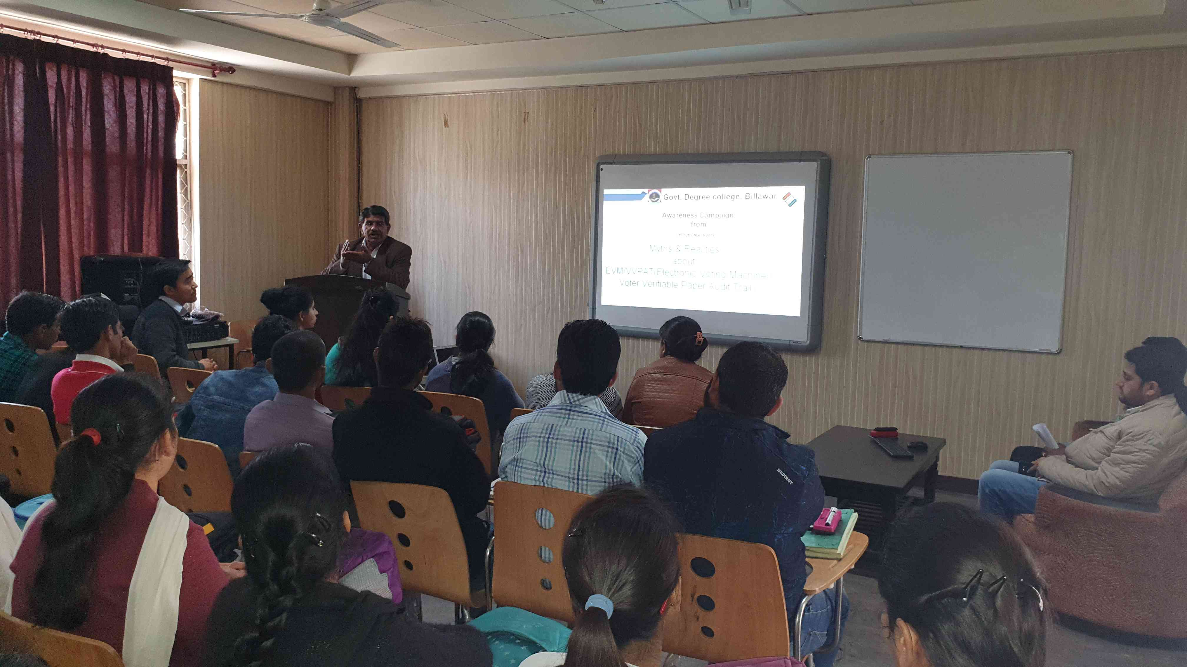 Awareness program about Myths and Realities of EVM/VVPAT