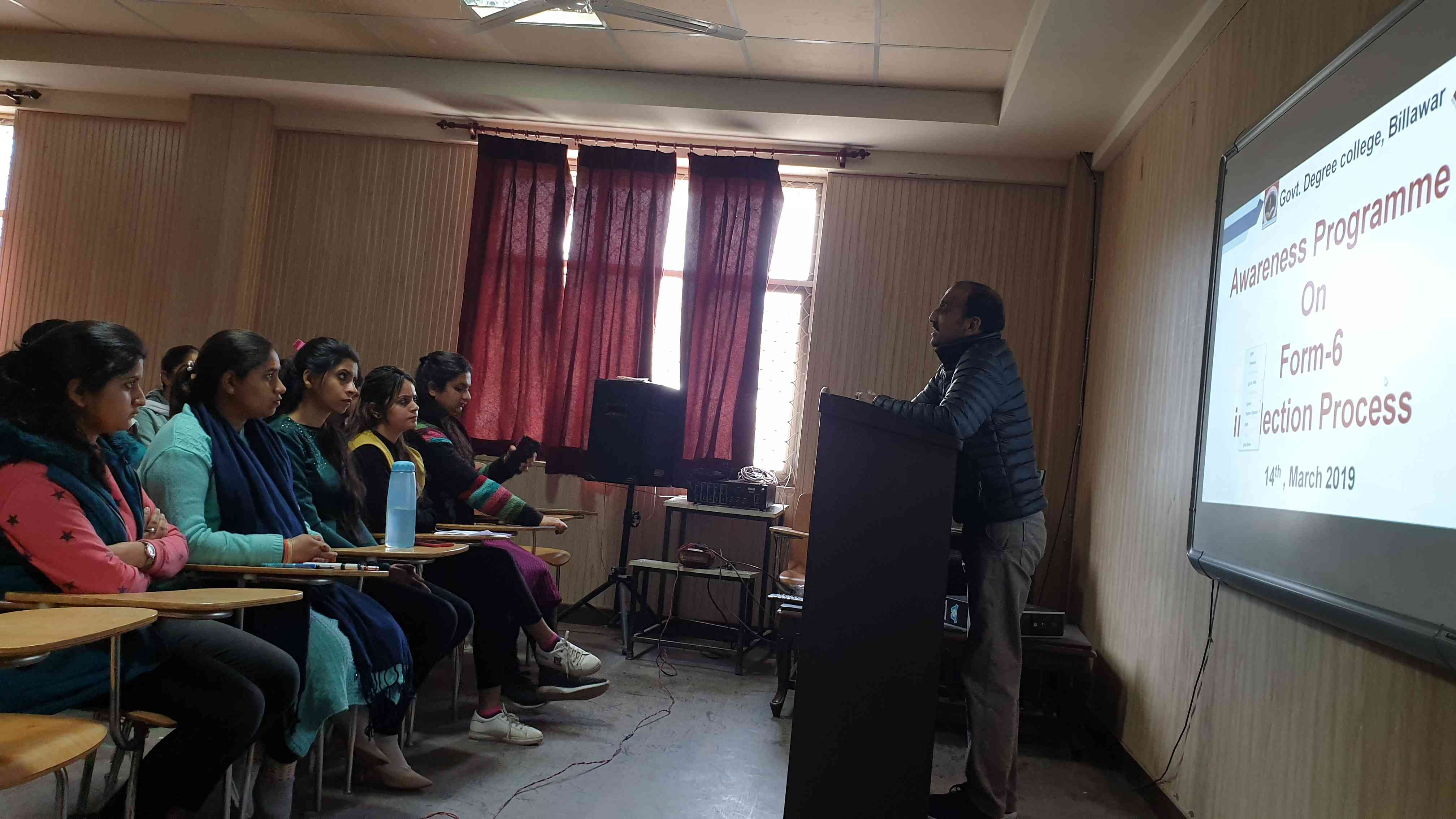 Awareness programme in Form-6 in election process
