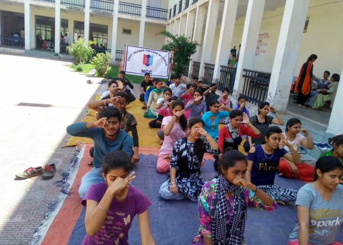 Celebration of International Yoga Day 21-06-2018