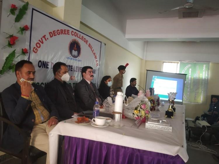 GDC billawar organized a One Day state level  seminar