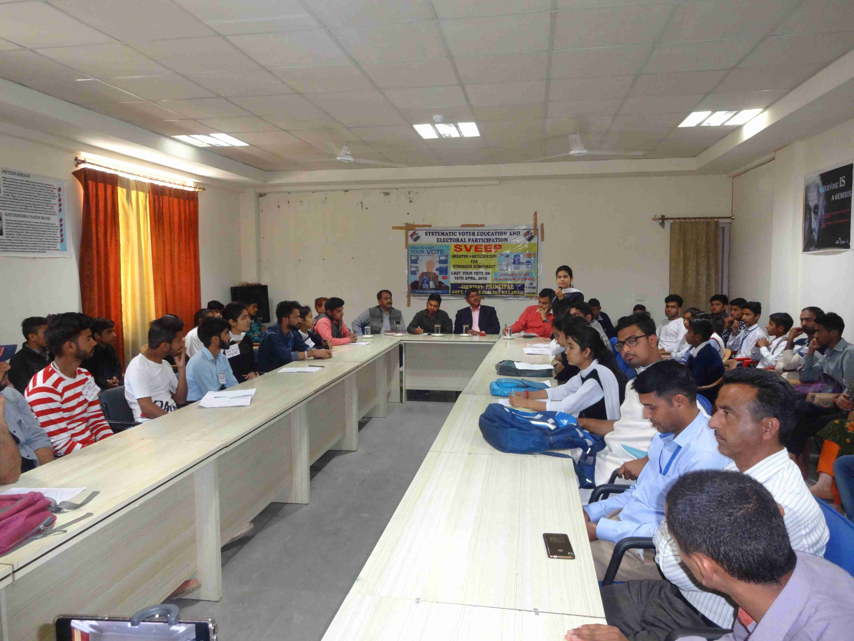 Youth parliment debate on EVM and VVPAT held in GDC Billawar