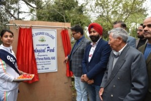 Ecological Park at GDC Udhampur thrown open