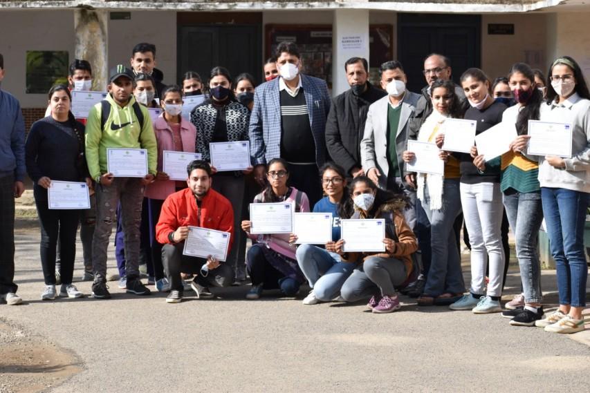 Entrepreneurship Development Programme concludes at GDC Udhampur