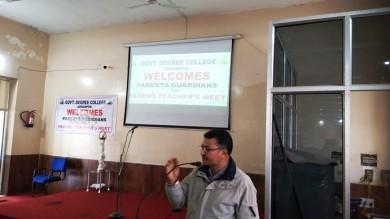 Maiden Parents Teacher organized at GDC Udhampur
